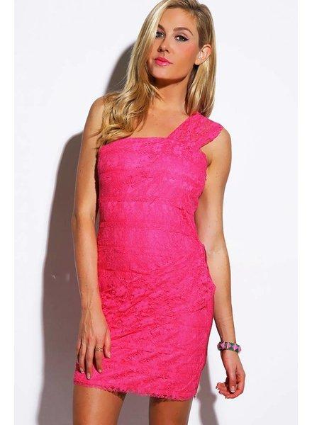 Roze kort jurkje