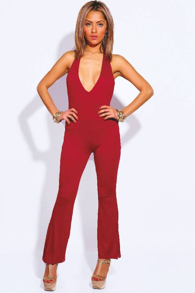 Backless rode jumpsuit