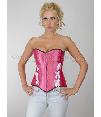 Roze corset met strikjes