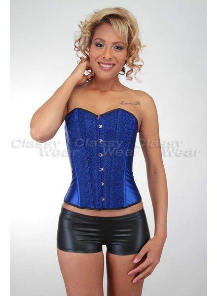 Blauw corset met glitter