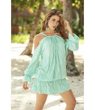 Espiral Lingerie Zeeblauw jurkje met open schouders