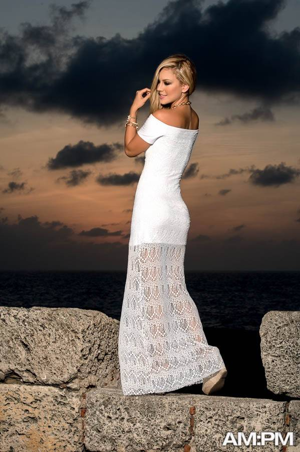 7b01c7f008f504 Beroemd Espiral Lingerie Lange jurk kant wit - ClassyWear  CU69