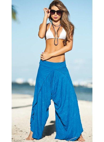 Espiral Lingerie Wijde strandbroek blauw