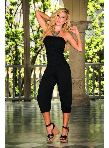 Espiral Lingerie Strapless jumpsuit zwart