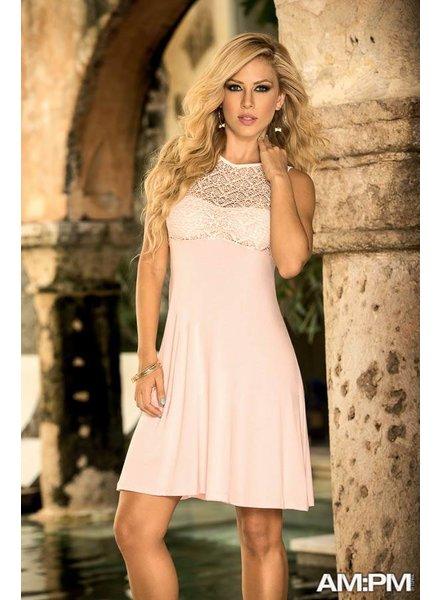 Espiral Lingerie Kort jurkje met kant roze