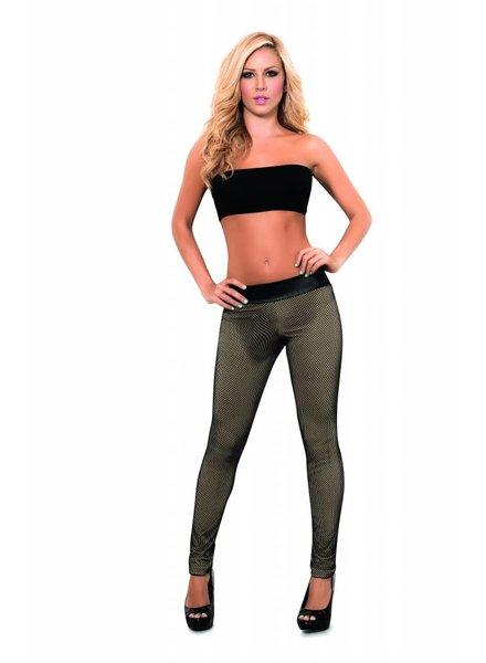 Espiral Lingerie Legging met netmotief zwart/mocca