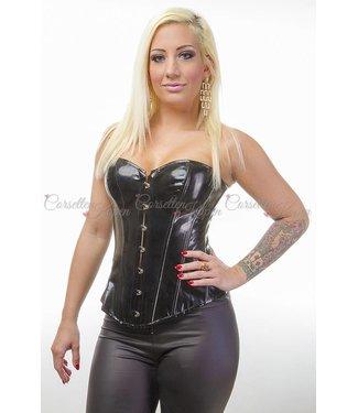 Glimmend pvc corset