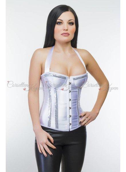 Zilver halter corset