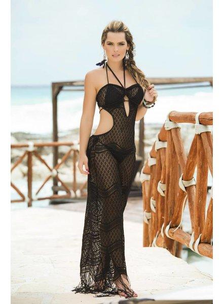 Espiral Lingerie Doorschijnende zwarte strandjurk