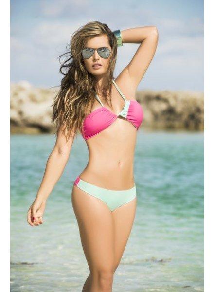 Espiral Lingerie Halter bikini pink/turquoise