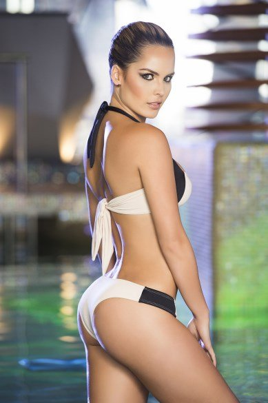 Espiral Lingerie Beige halter bikini