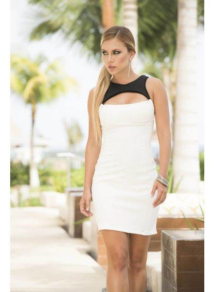 Espiral Lingerie Wit jurkje met open detail