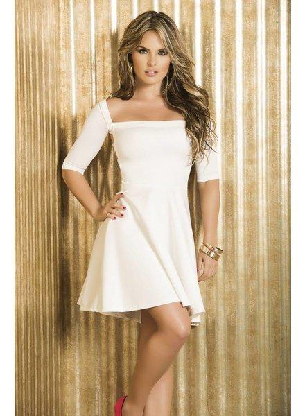 Espiral Lingerie Wit wijd uitlopend jurkje