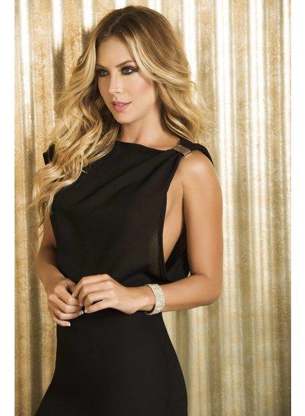 Espiral Lingerie Zwart jurkje met wijde mouw