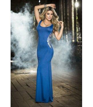 Espiral Lingerie Lange jurk (blauw/zilver)