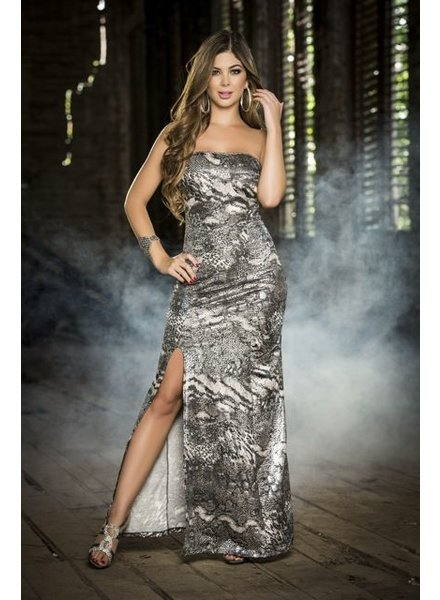 Espiral Lingerie Lange strapless jurk (zilver)