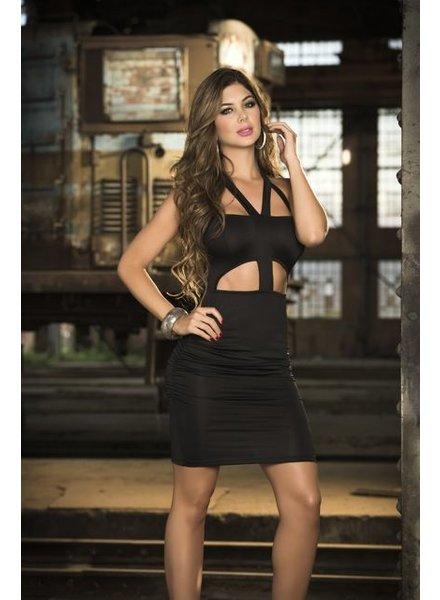 Espiral Lingerie Sexy halter jurk (zwart)