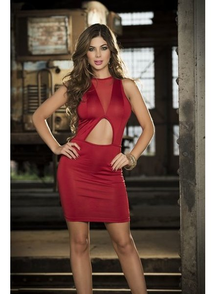 Espiral Lingerie Rode mouwloze jurk