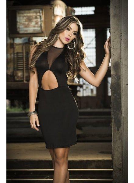 Espiral Lingerie Zwarte mouwloze jurk