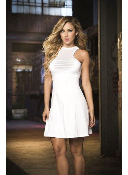 Espiral Lingerie Mouwloze witte jurk