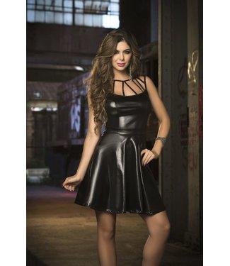 Espiral Lingerie Zwarte wetlook jurk