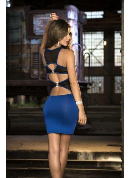 Espiral Lingerie Blauwe jurk open rug