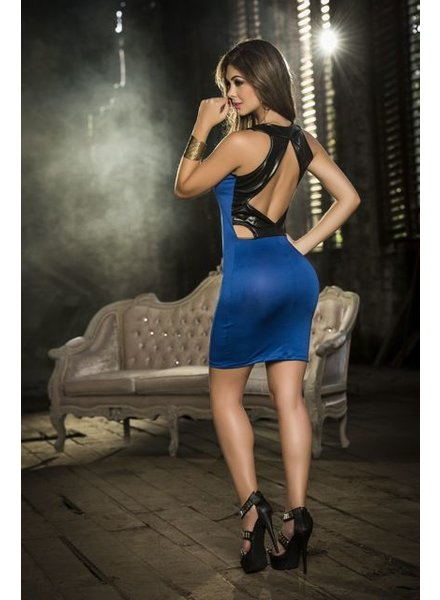 Espiral Lingerie Blauw jurkje met hoge hals