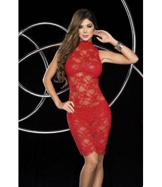 Espiral Lingerie Kanten jurk (rood) 3-delig