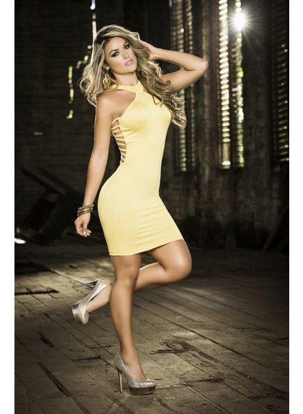 Espiral Lingerie Halter jurk met ritssluiting (geel)