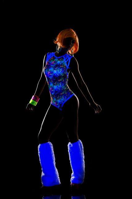 Espiral Lingerie Blacklight neon print bodysuit