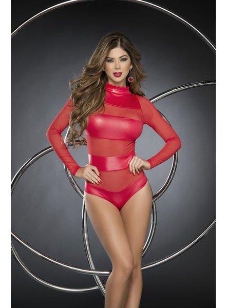 Espiral Lingerie Rood gestreepte bodysuit