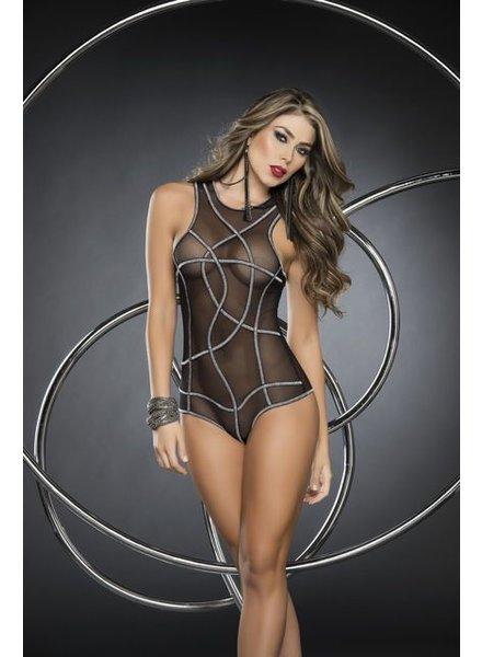 Espiral Lingerie Blacklight bodysuit