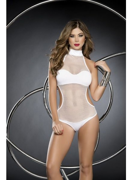 Espiral Lingerie Wit visnet-look bodysuit