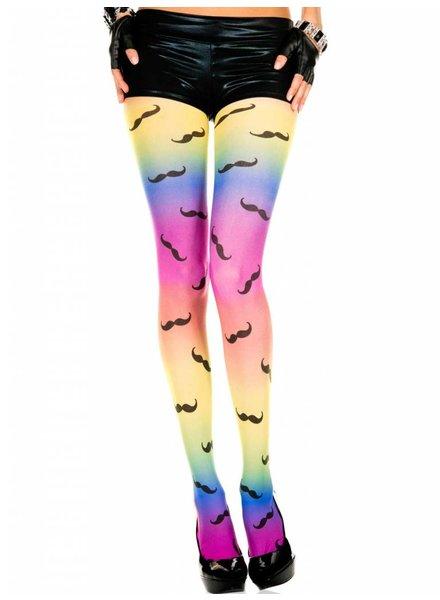 Music Legs Rainbow panty met snor-print