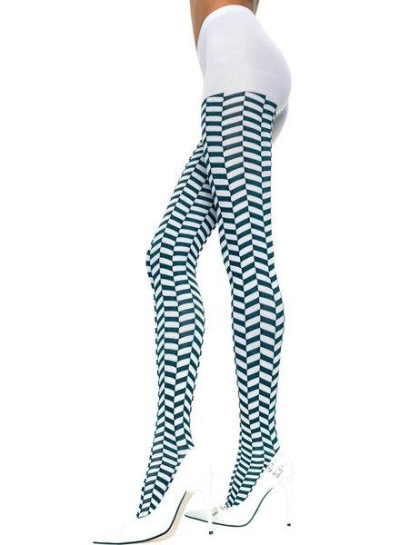 Music Legs Zwart/wit panty