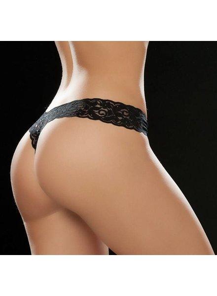 Espiral Lingerie Sexy kanten string (black)