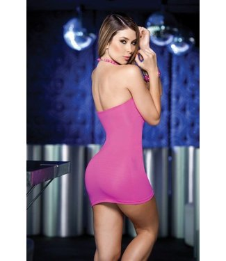 Espiral Lingerie Sexy strapless roze jurkje