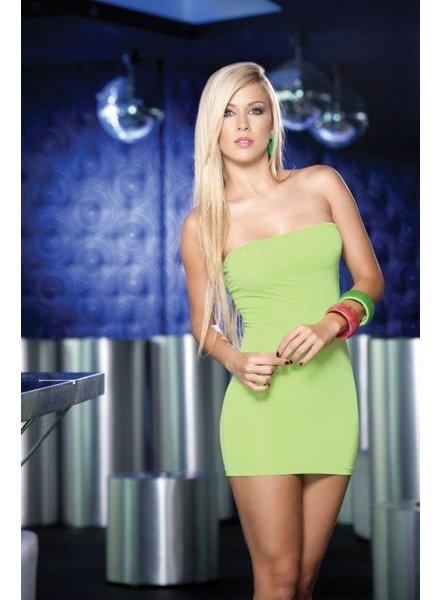 Espiral Lingerie Sexy strapless groen jurkje