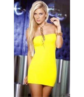 Espiral Lingerie Sexy strapless geel jurkje