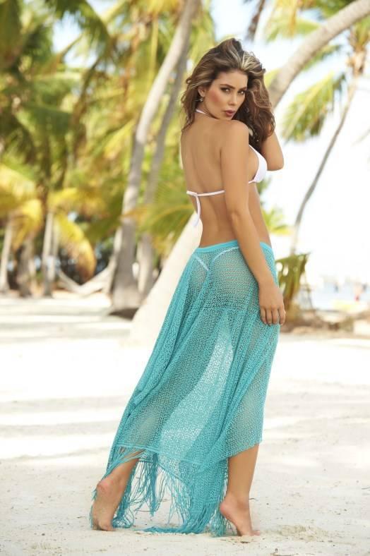 Espiral Lingerie Turquoise zomerse strand jurk/rok