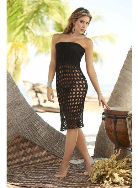 Espiral Lingerie Sexy zwart gehaakte strand jurk/rok