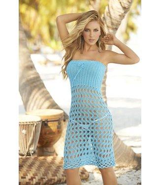 Espiral Lingerie Sexy turquoise gehaakte strand jurk/rok