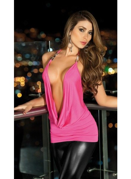 Espiral Lingerie Sexy roze waterval top