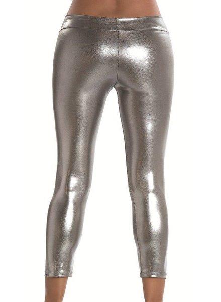 Espiral Lingerie Metallic gun metal legging