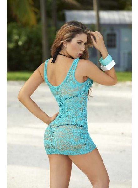 Espiral Lingerie 2-delig turquoise jurkje