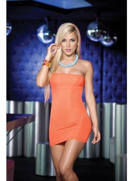 Espiral Lingerie Sexy strapless oranje jurkje