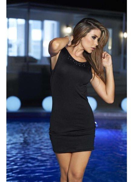 Espiral Lingerie Sexy zwart jurkje met steentjes en open rug