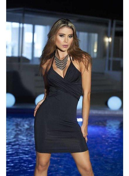 Espiral Lingerie Sexy zwart halter jurkje