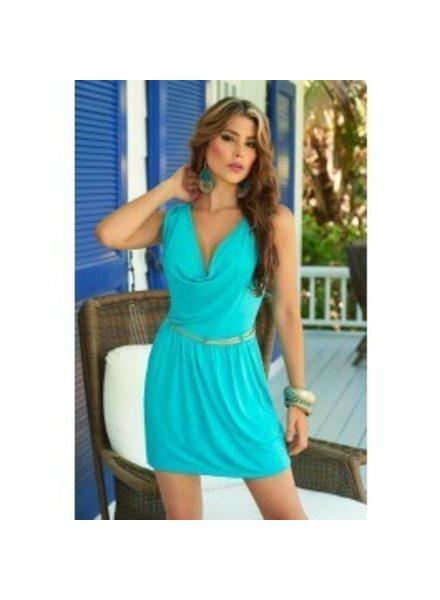 Espiral Lingerie Zomers turquoise jurkje