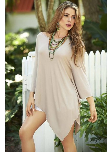 Espiral Lingerie Poncho style top mokka/taupe